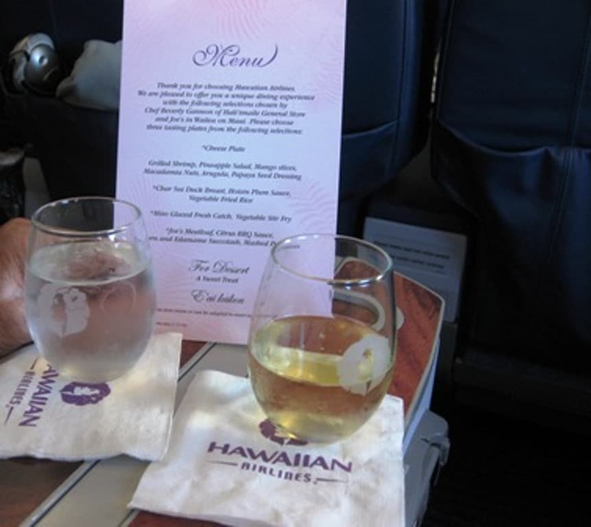 First class on Hawaiian Airlines