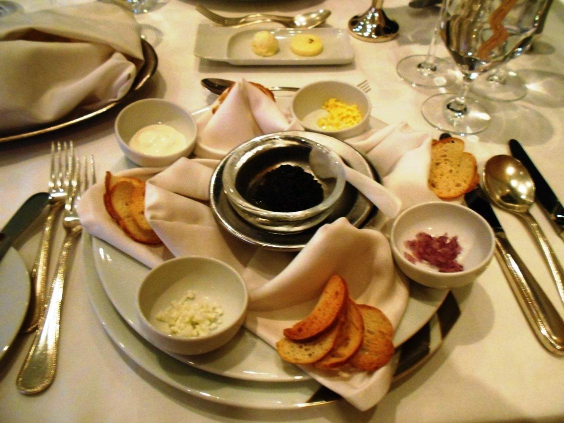 Caviar on Seabourn