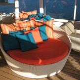 Crystal Cruises deck chair