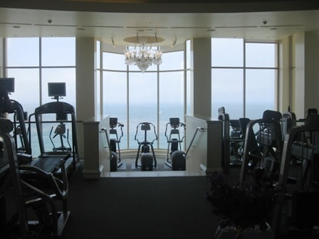 Fitness centers on ships