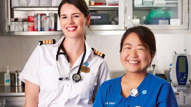 Medical teams on ships