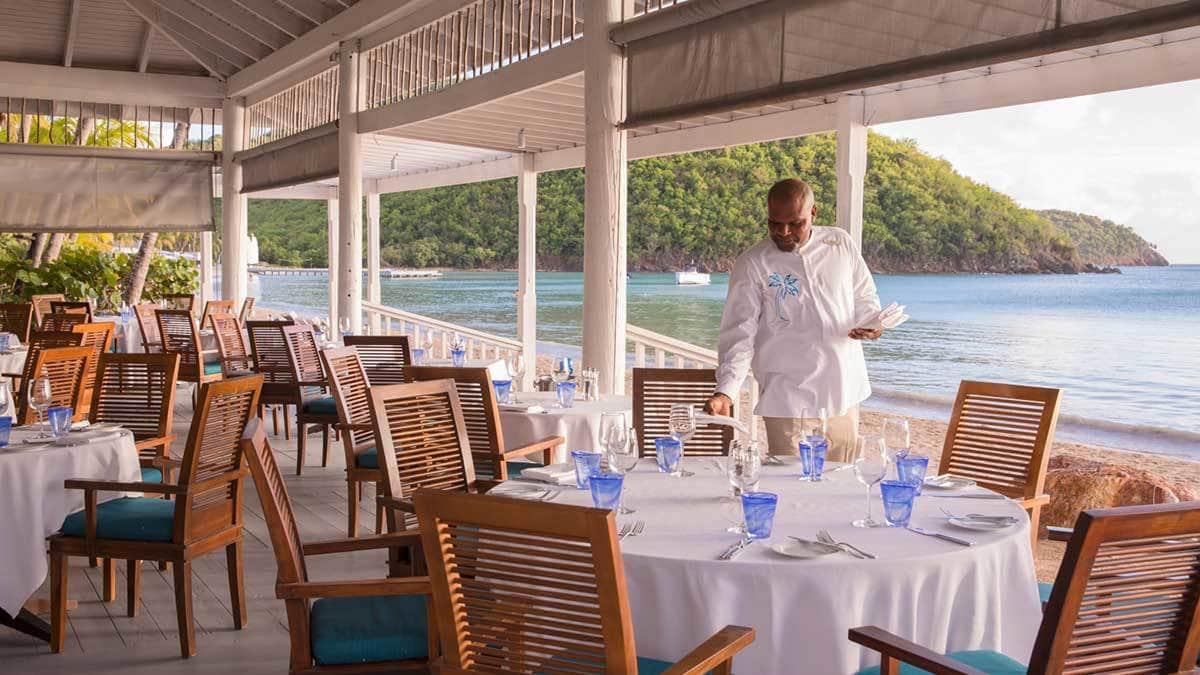 Dining at Carlisle Bay Resort