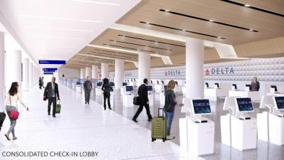 Delta Airlines remodeled terminal at LAX
