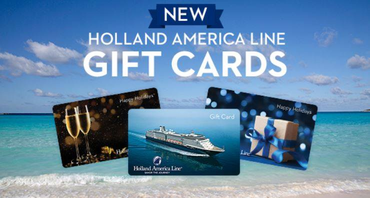 Holland America gift cards