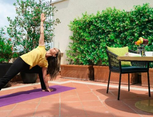 When in Rome get your yoga on